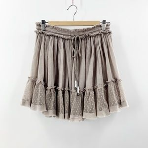 Free People | Boho Gypsy Skirt | Taupe